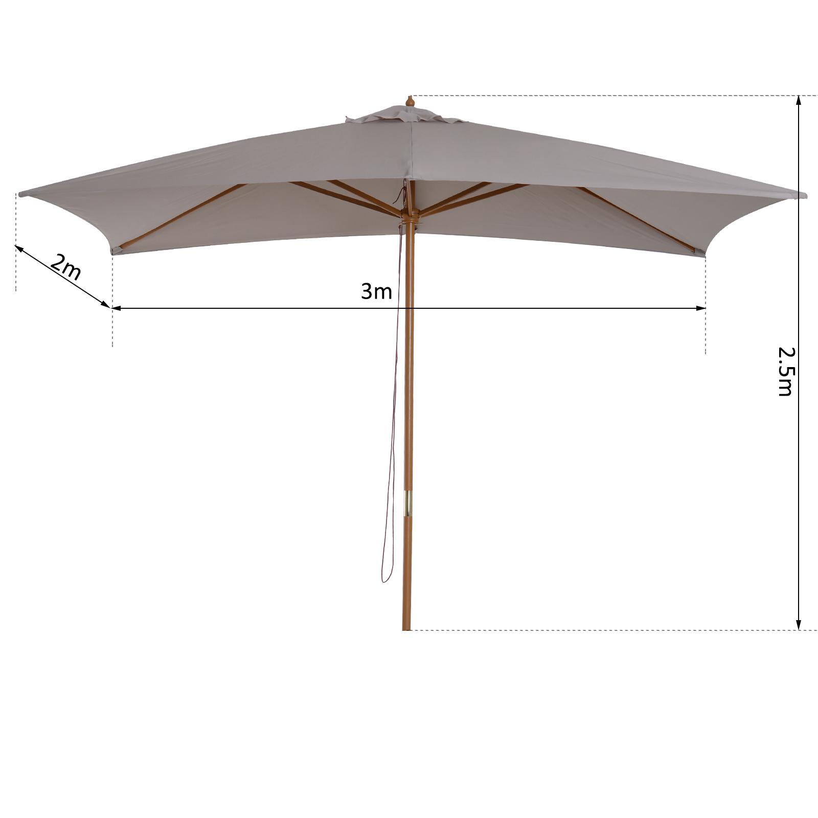 Outsunny-Parasol-de-Jardin-Parasol-Rectangulaire-2-x-3-x-2-5-m-Bois-de-Bambou miniature 27