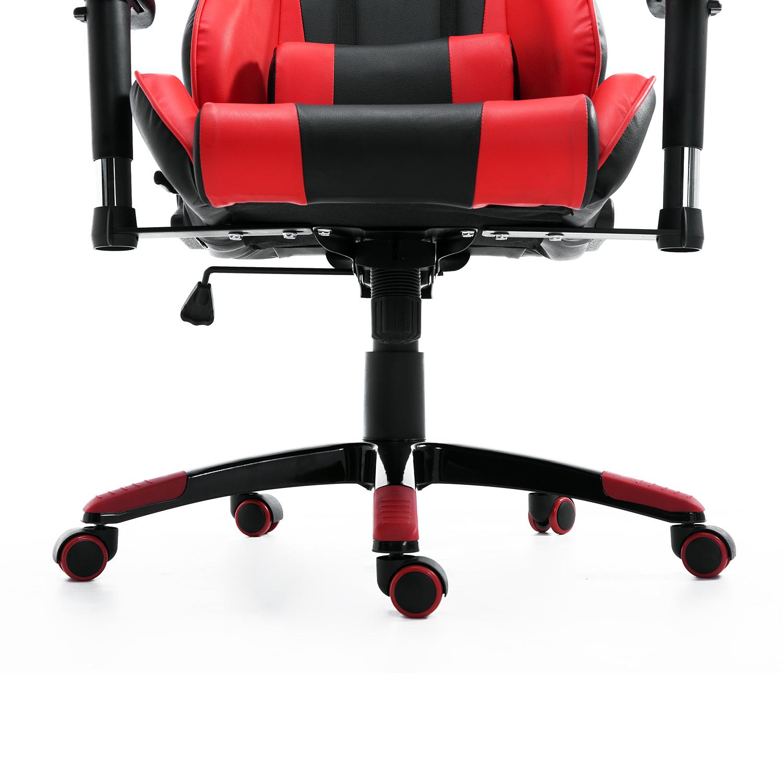 HOMCOM-Chaise-Fauteuil-Siege-de-Bureau-Racing-Gamer-Hauteur-Reglable miniature 36