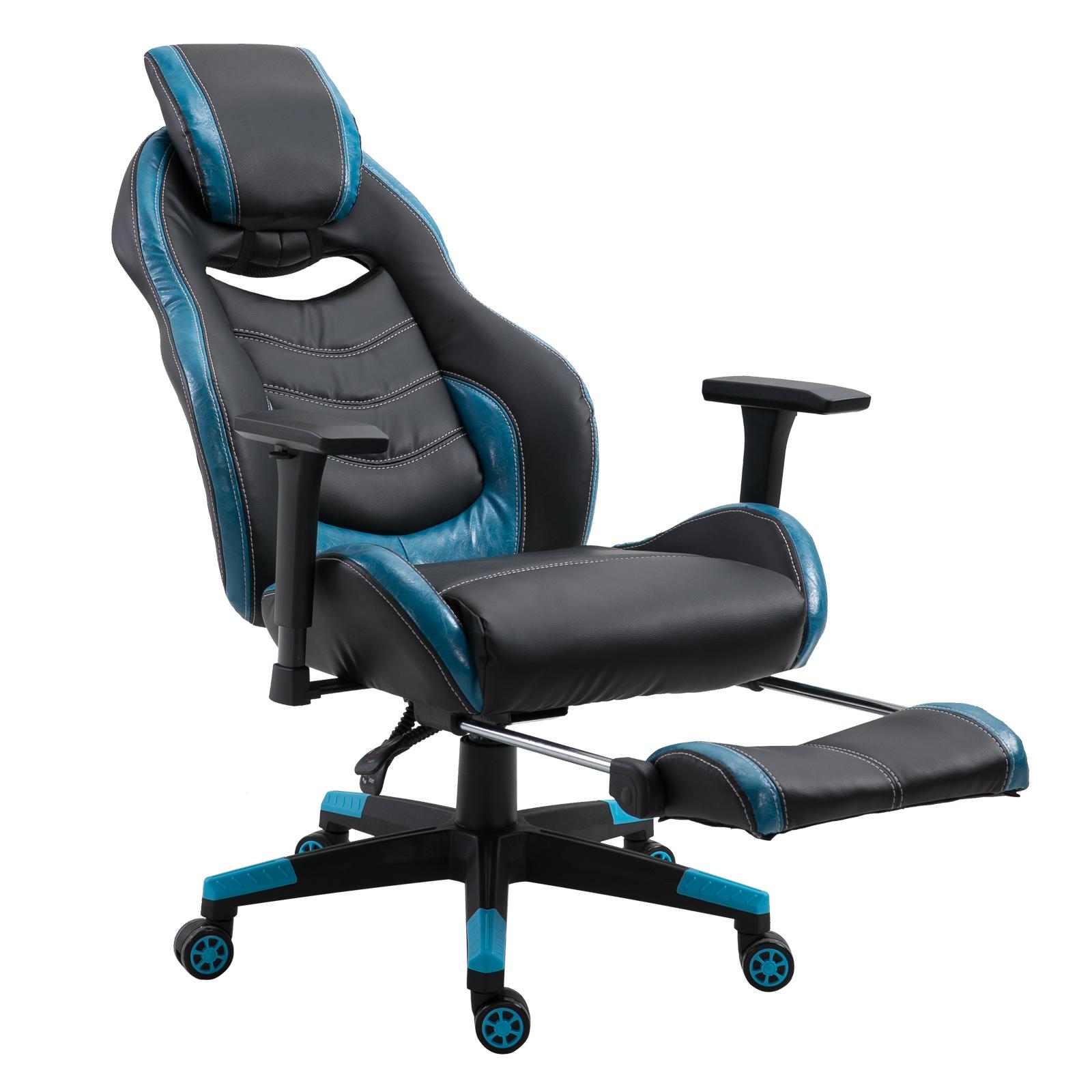 Vinsetto-Chaise-Fauteuil-de-Bureau-Siege-Gamer-Hauteur-Reglable