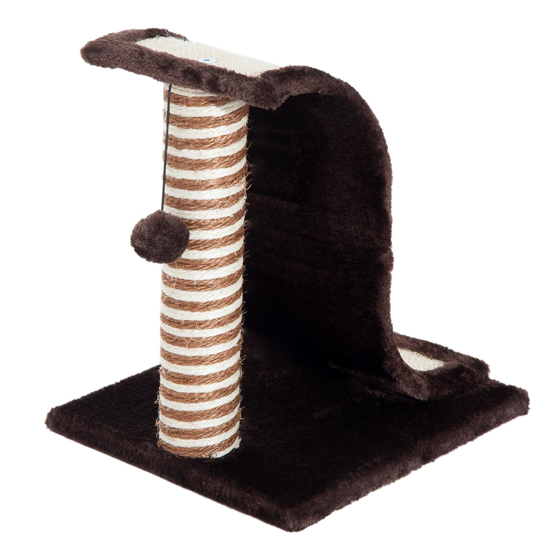 PawHut-Griffoir-a-chat-avec-Tronc-et-Boule-Suspendue-Peluche-et-Sisal miniature 25