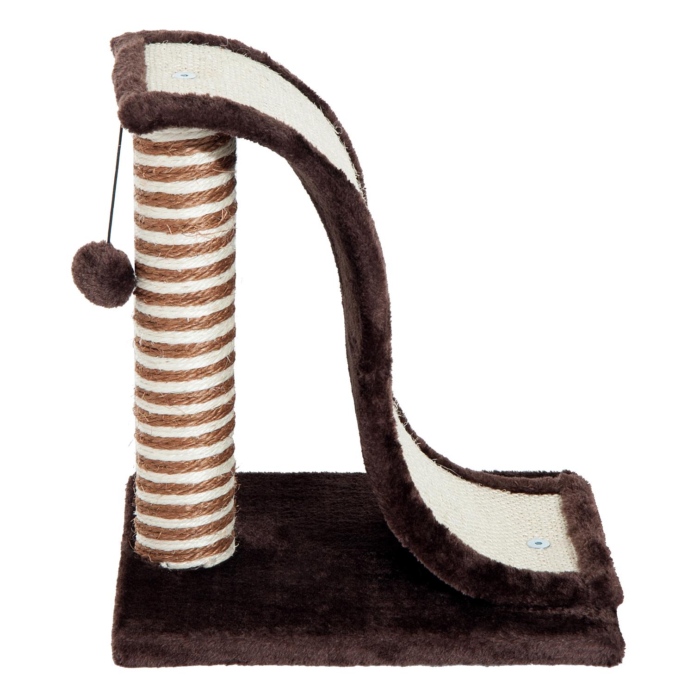 PawHut-Griffoir-a-chat-avec-Tronc-et-Boule-Suspendue-Peluche-et-Sisal miniature 26