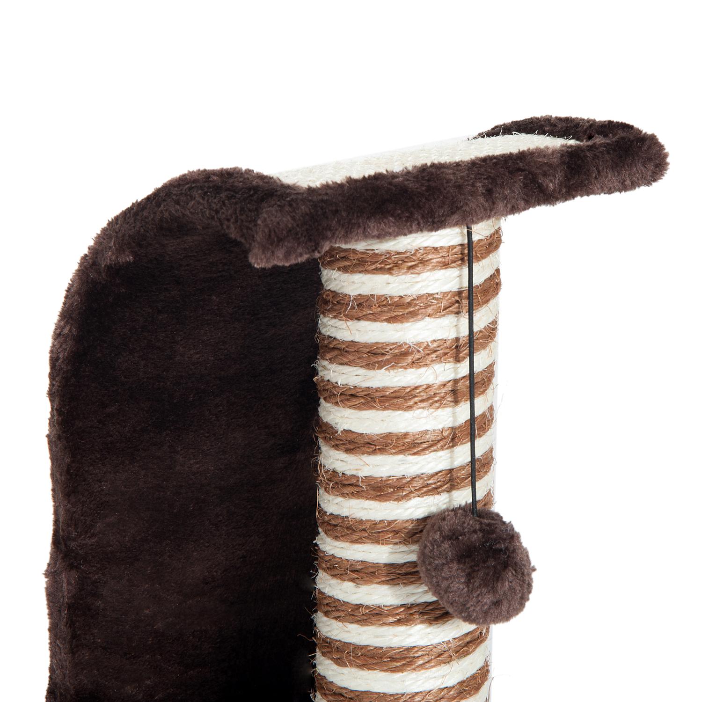 PawHut-Griffoir-a-chat-avec-Tronc-et-Boule-Suspendue-Peluche-et-Sisal miniature 28