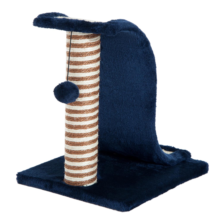 PawHut-Griffoir-a-chat-avec-Tronc-et-Boule-Suspendue-Peluche-et-Sisal miniature 7