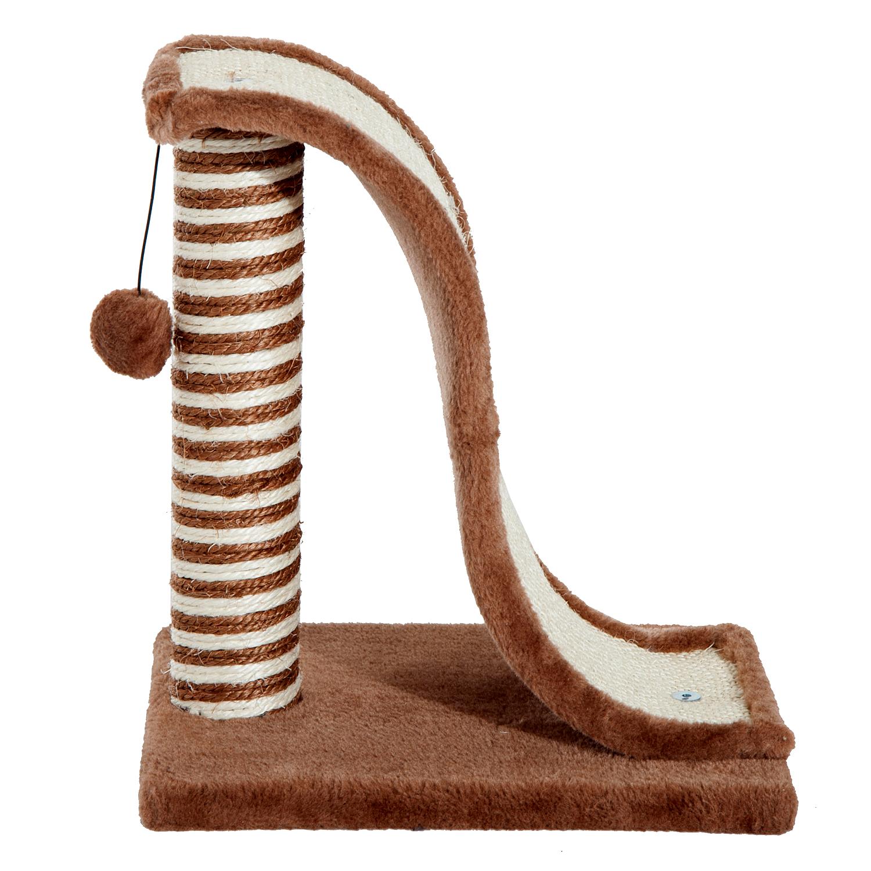 PawHut-Griffoir-a-chat-avec-Tronc-et-Boule-Suspendue-Peluche-et-Sisal miniature 15