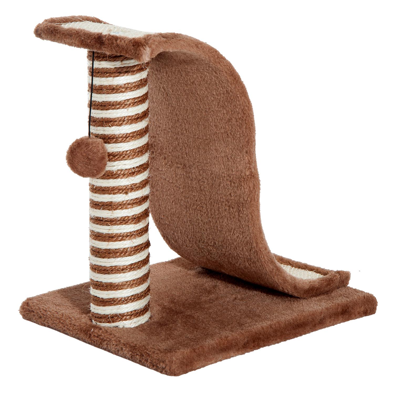 PawHut-Griffoir-a-chat-avec-Tronc-et-Boule-Suspendue-Peluche-et-Sisal miniature 16