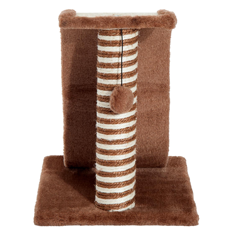 PawHut-Griffoir-a-chat-avec-Tronc-et-Boule-Suspendue-Peluche-et-Sisal miniature 17