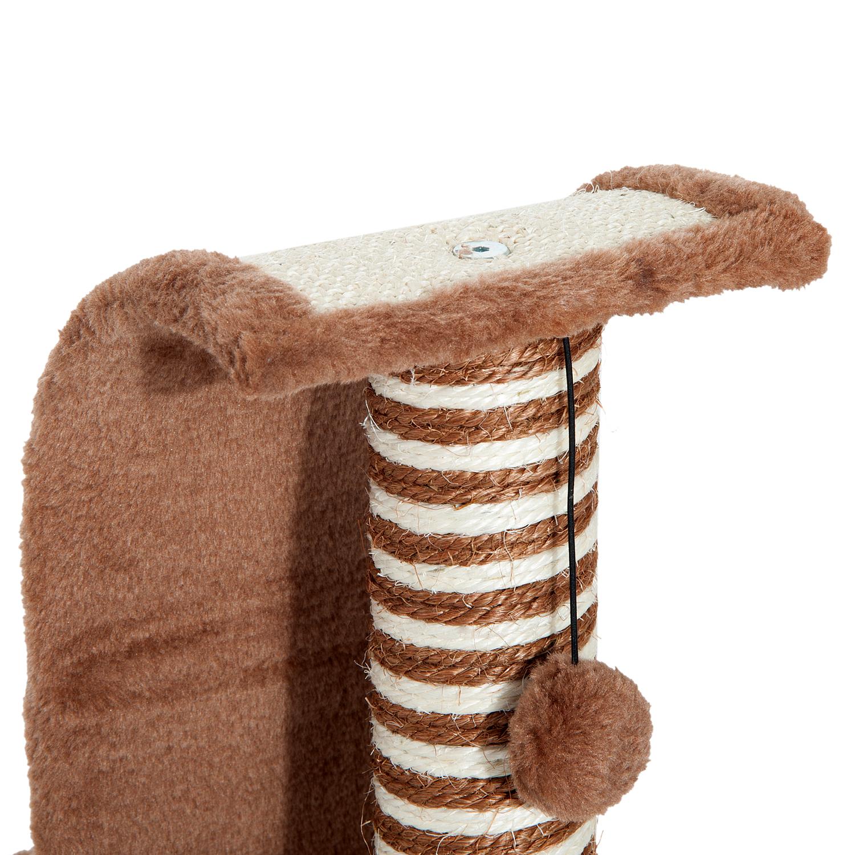 PawHut-Griffoir-a-chat-avec-Tronc-et-Boule-Suspendue-Peluche-et-Sisal miniature 19