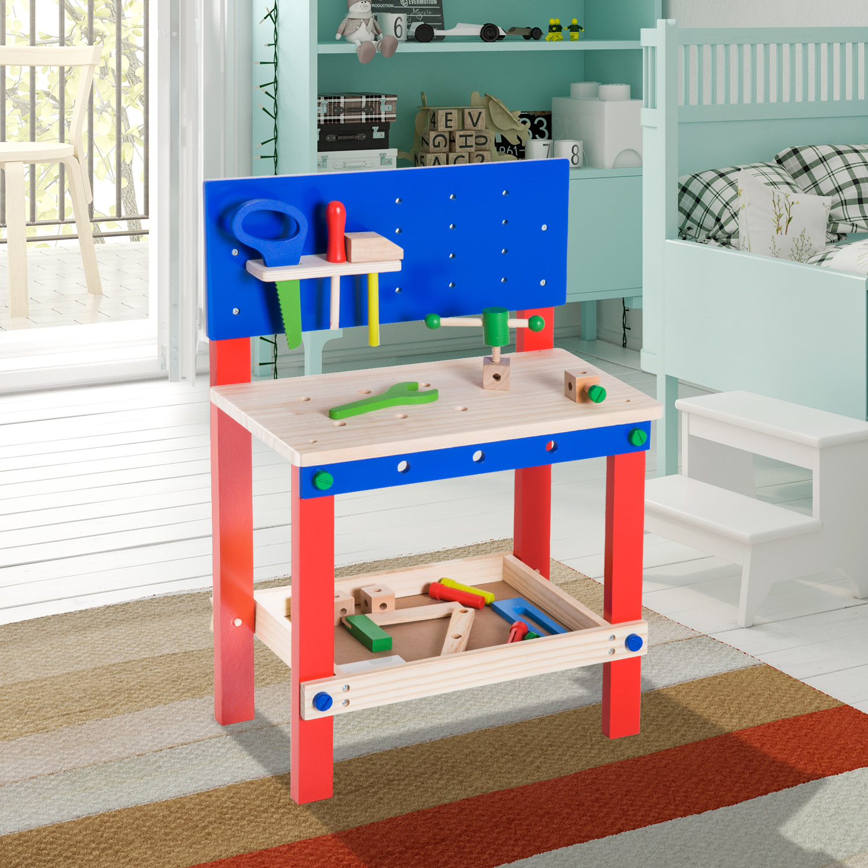 Spielzeug Kinder Rollenspiele Homcom Kinder Werkbank Werkstatt Deluxe Kinderwerkbank Zubehor 20 Pc Spielzeug Rot Blau L46xb30xh65 5cm Spielwerkzeug Nirwanagroup Co Id