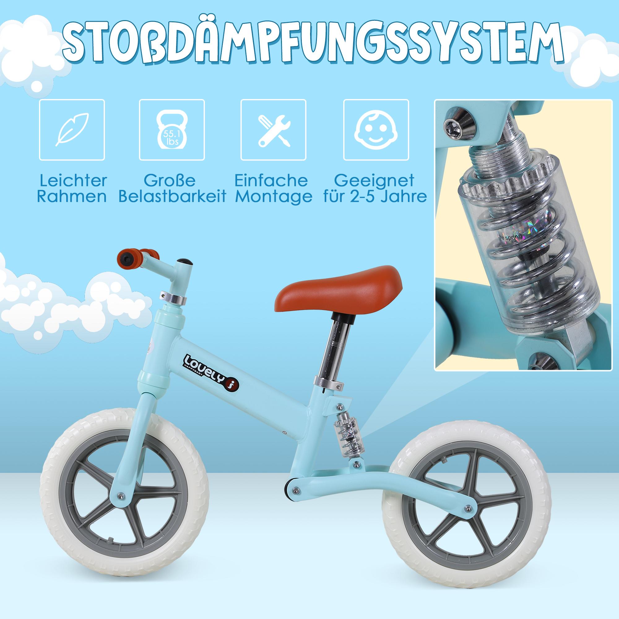 Indexbild 11 - HOMCOM Laufrad mit Stoßdämpfer Kinderrad Lauflernrad Balance Bike 2-5 Jahre