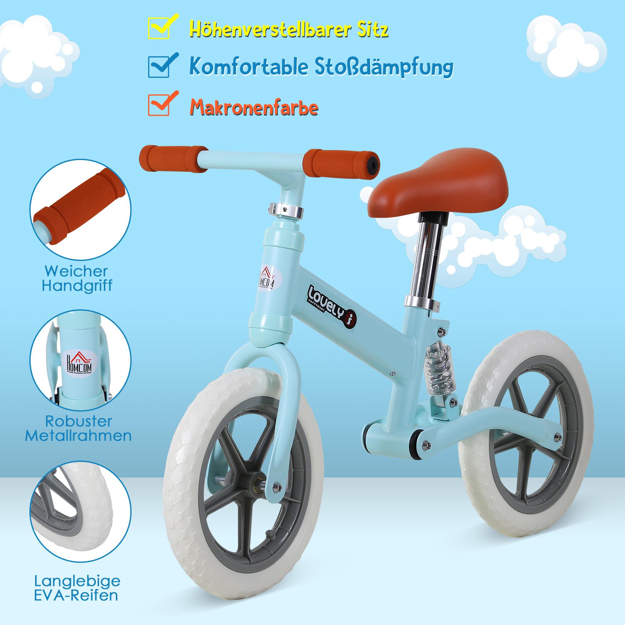 Indexbild 10 - HOMCOM Laufrad mit Stoßdämpfer Kinderrad Lauflernrad Balance Bike 2-5 Jahre