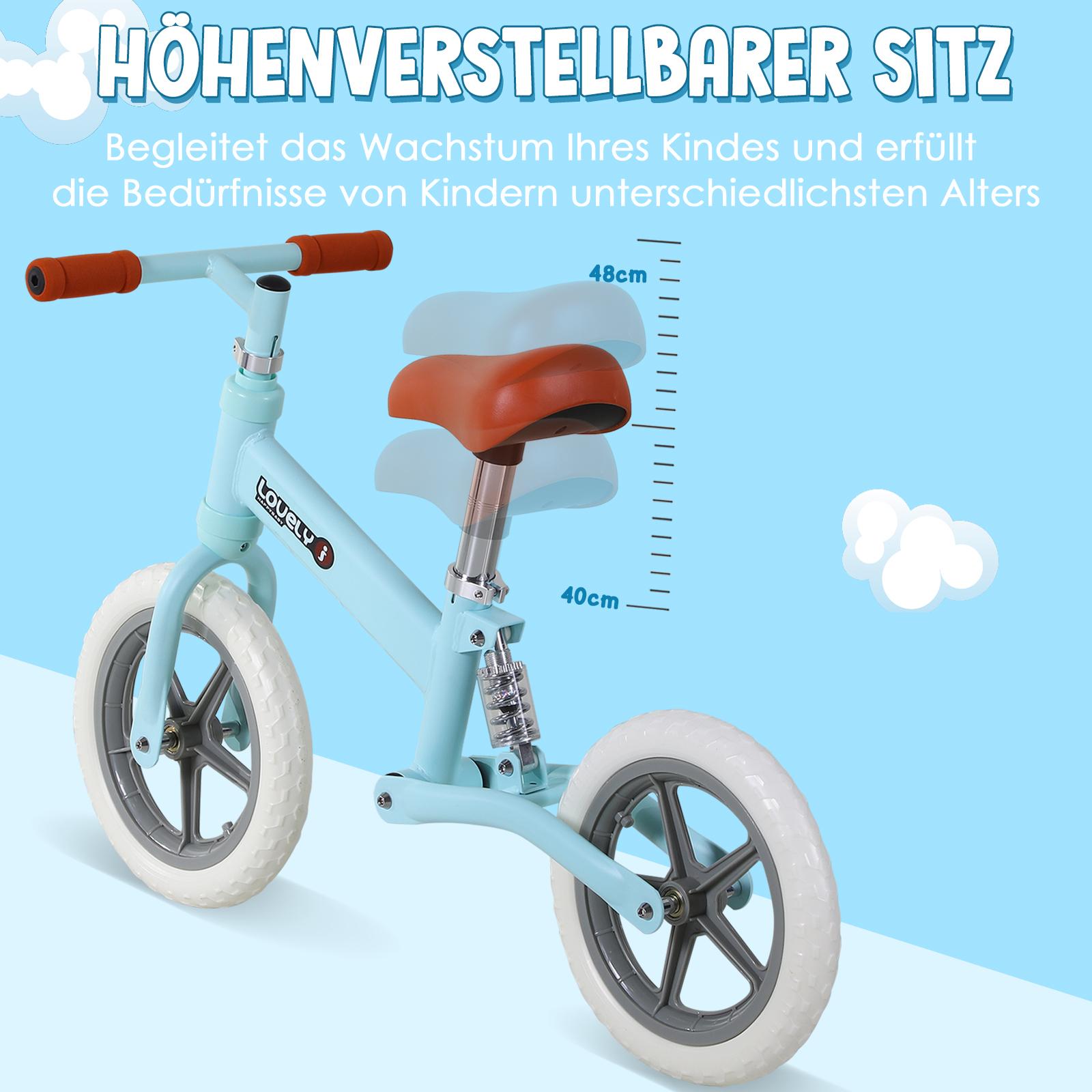 Indexbild 12 - HOMCOM Laufrad mit Stoßdämpfer Kinderrad Lauflernrad Balance Bike 2-5 Jahre