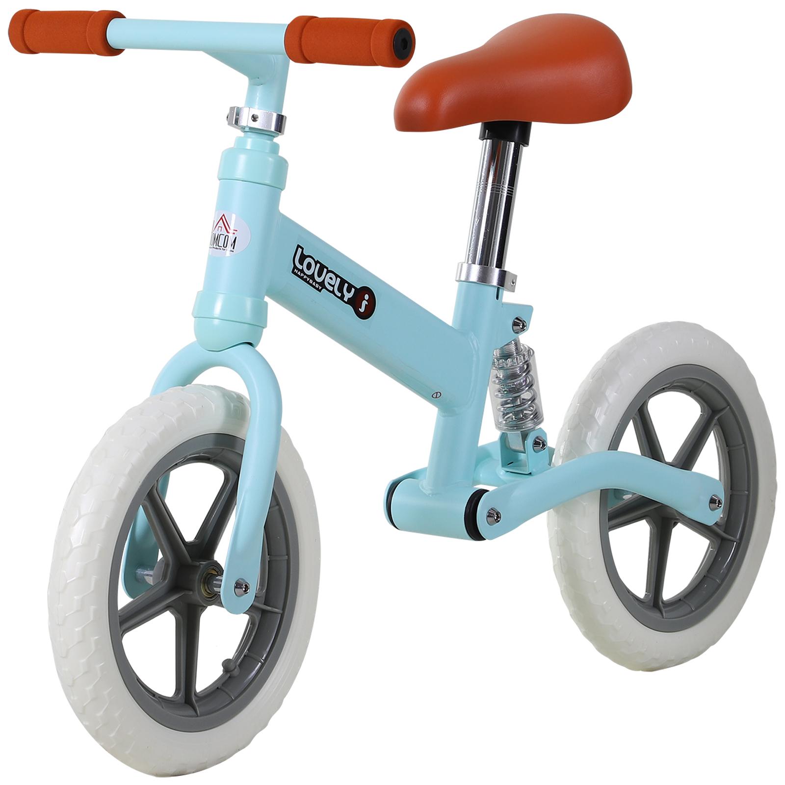 Indexbild 14 - HOMCOM Laufrad mit Stoßdämpfer Kinderrad Lauflernrad Balance Bike 2-5 Jahre