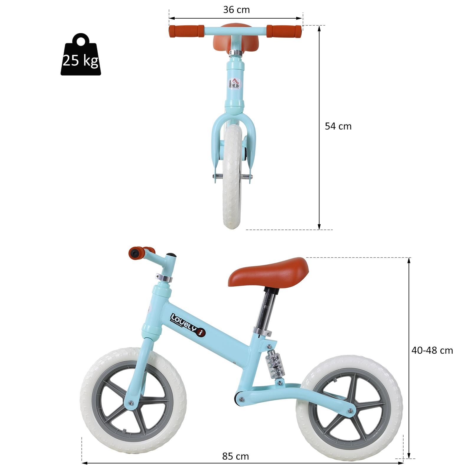 Indexbild 13 - HOMCOM Laufrad mit Stoßdämpfer Kinderrad Lauflernrad Balance Bike 2-5 Jahre