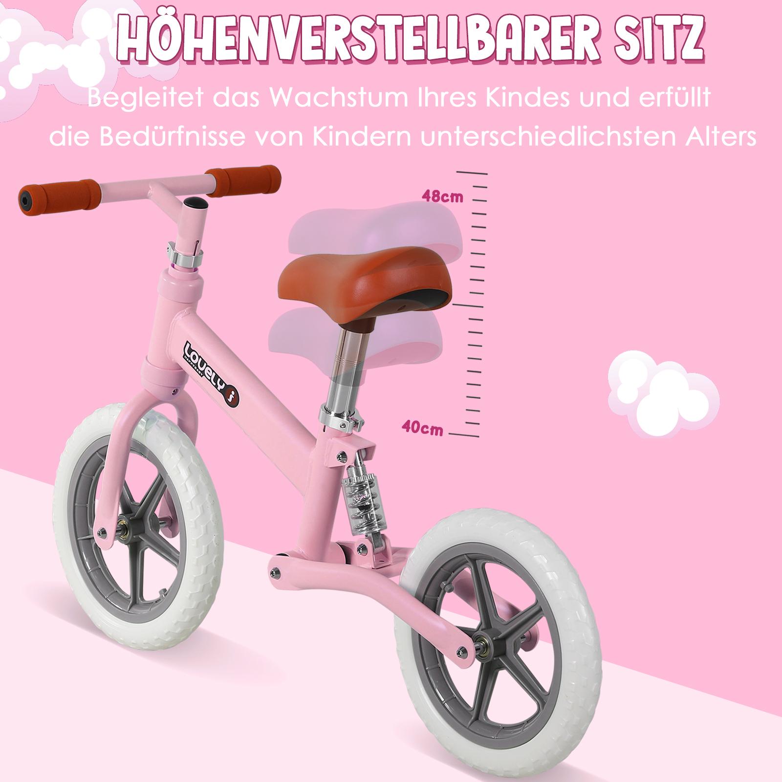 Indexbild 23 - HOMCOM Laufrad mit Stoßdämpfer Kinderrad Lauflernrad Balance Bike 2-5 Jahre