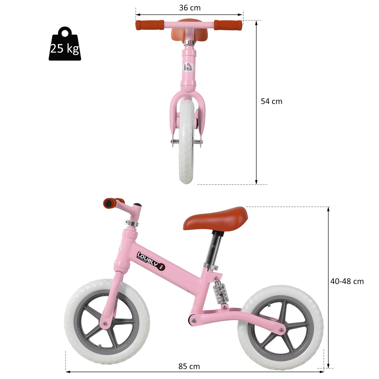 Indexbild 24 - HOMCOM Laufrad mit Stoßdämpfer Kinderrad Lauflernrad Balance Bike 2-5 Jahre