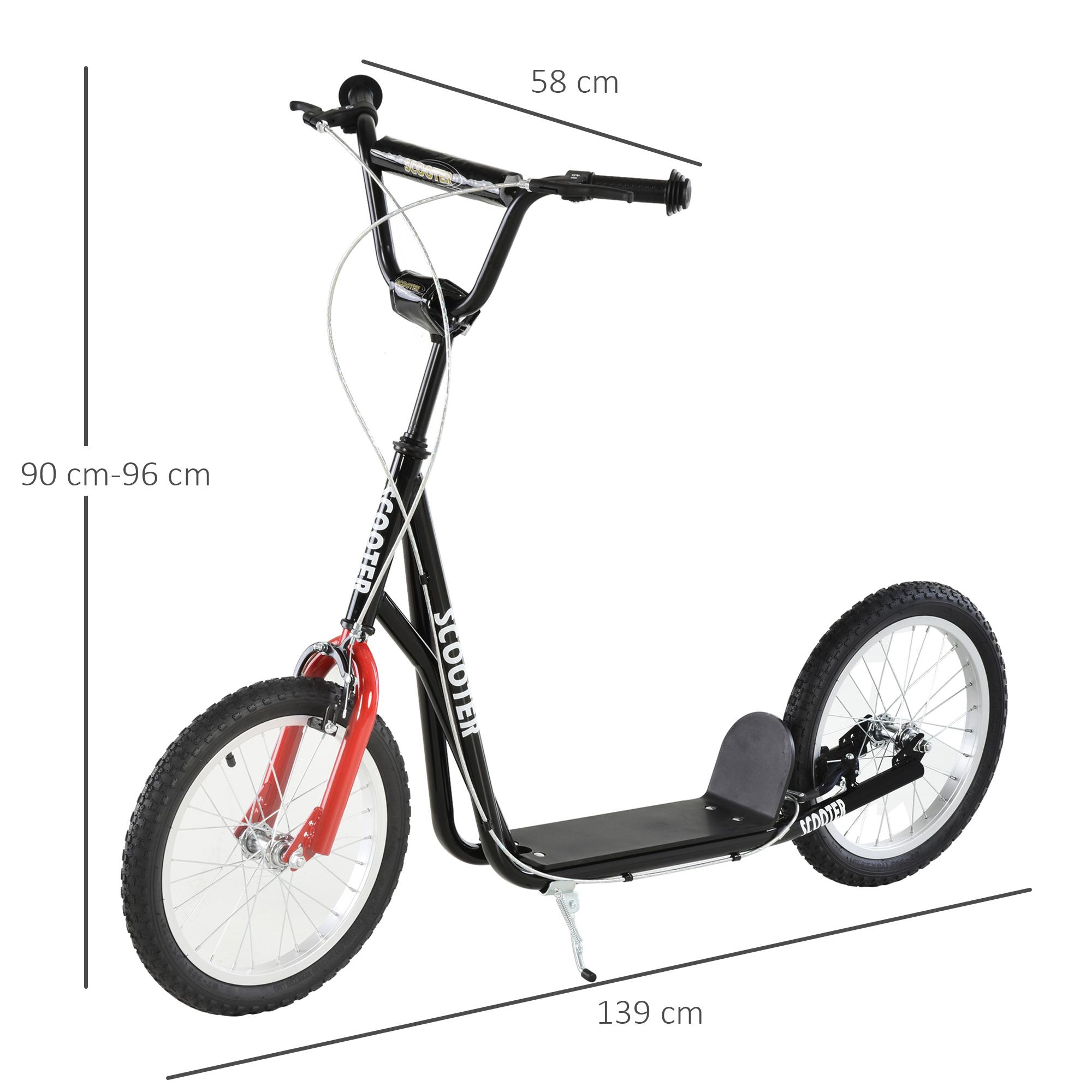 Indexbild 35 - HOMCOM-Tretroller-Kinderroller-Scooter-Cityroller-Roller-verstellbar-Blau-Gruen