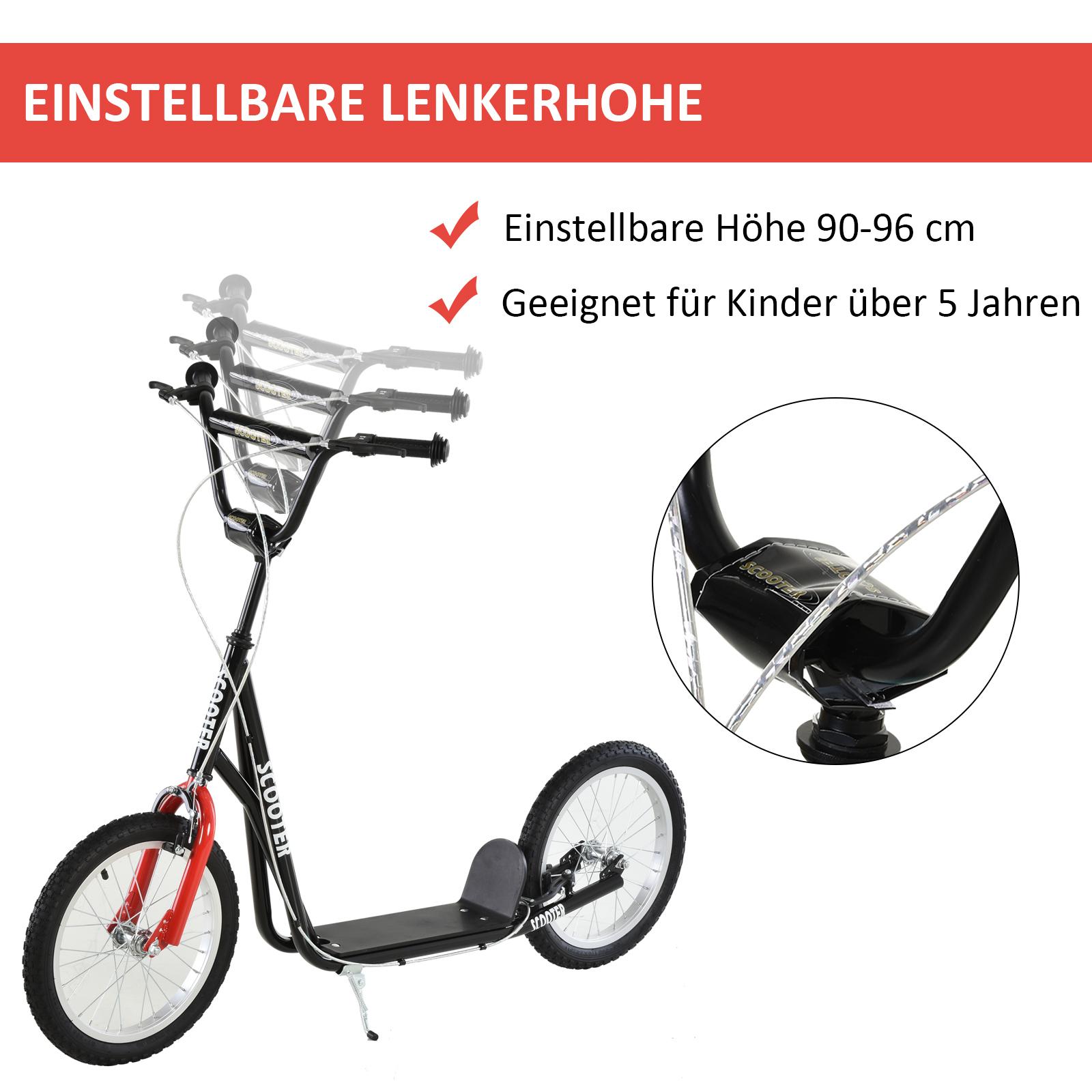 Indexbild 33 - HOMCOM-Tretroller-Kinderroller-Scooter-Cityroller-Roller-verstellbar-Blau-Gruen