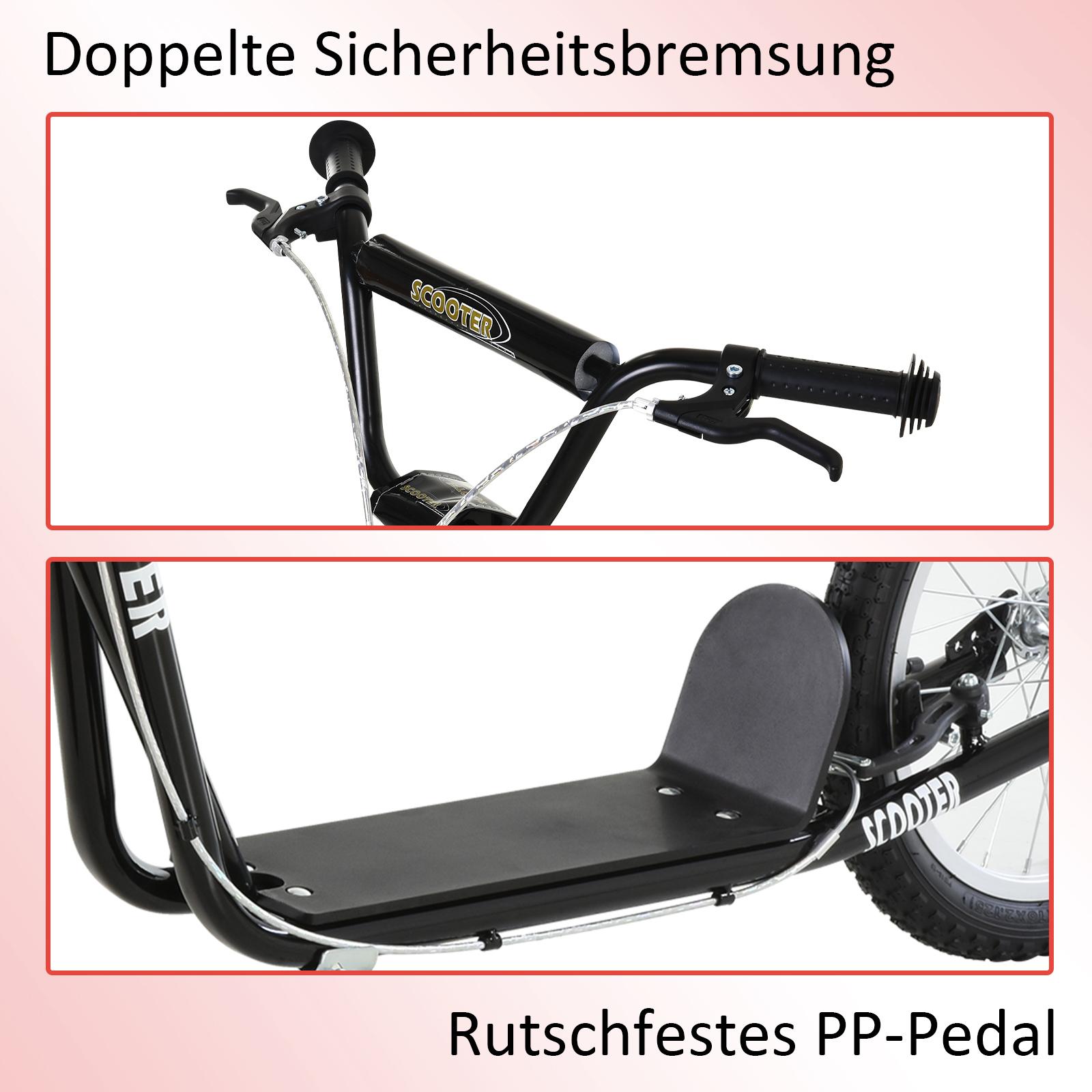 Indexbild 32 - HOMCOM-Tretroller-Kinderroller-Scooter-Cityroller-Roller-verstellbar-Blau-Gruen