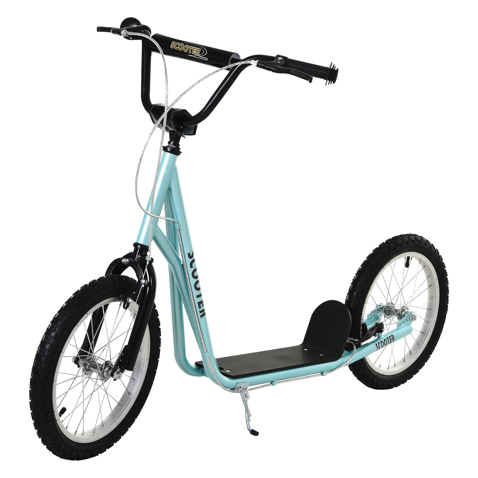 Indexbild 14 - HOMCOM-Tretroller-Kinderroller-Scooter-Cityroller-Roller-verstellbar-Blau-Gruen