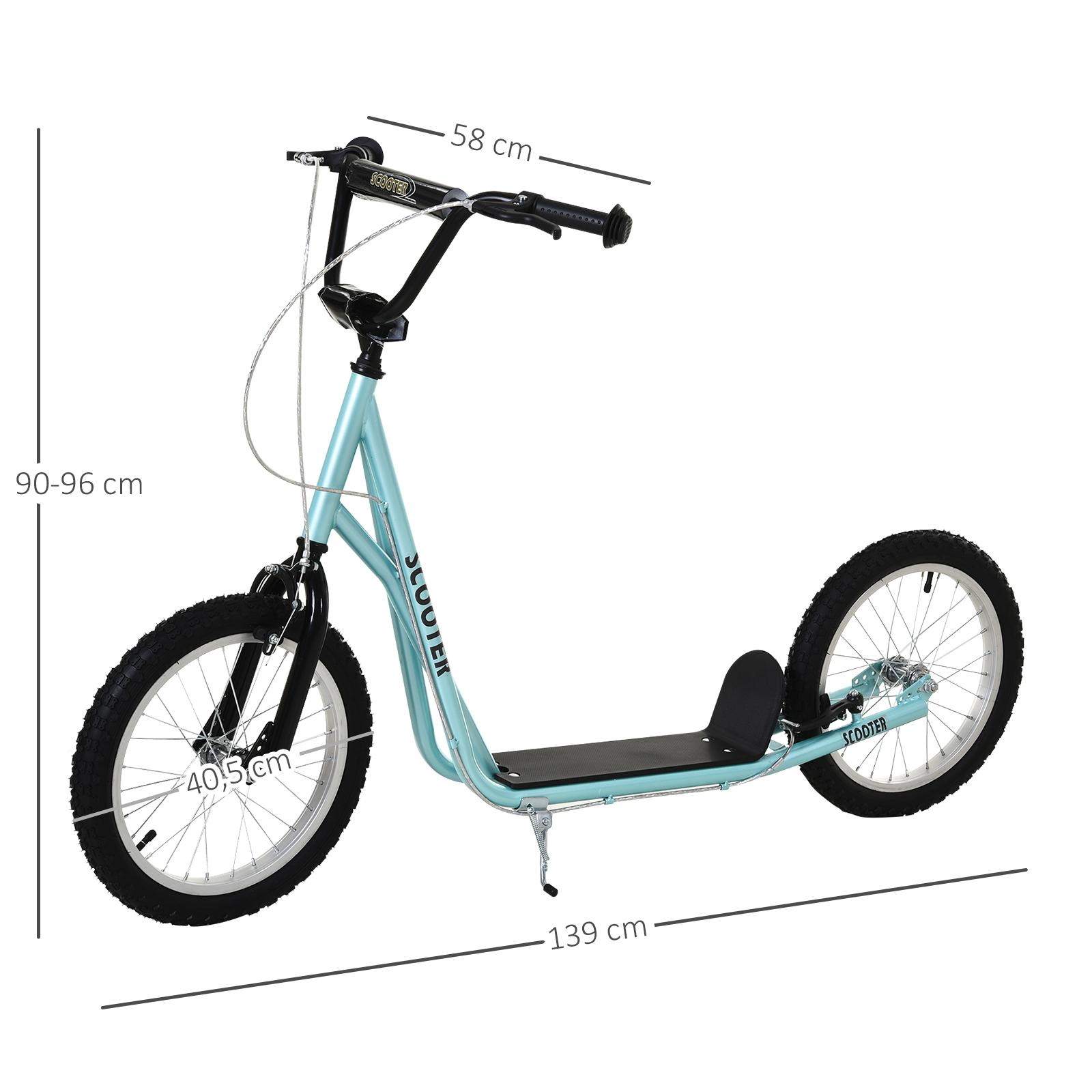 Indexbild 13 - HOMCOM-Tretroller-Kinderroller-Scooter-Cityroller-Roller-verstellbar-Blau-Gruen