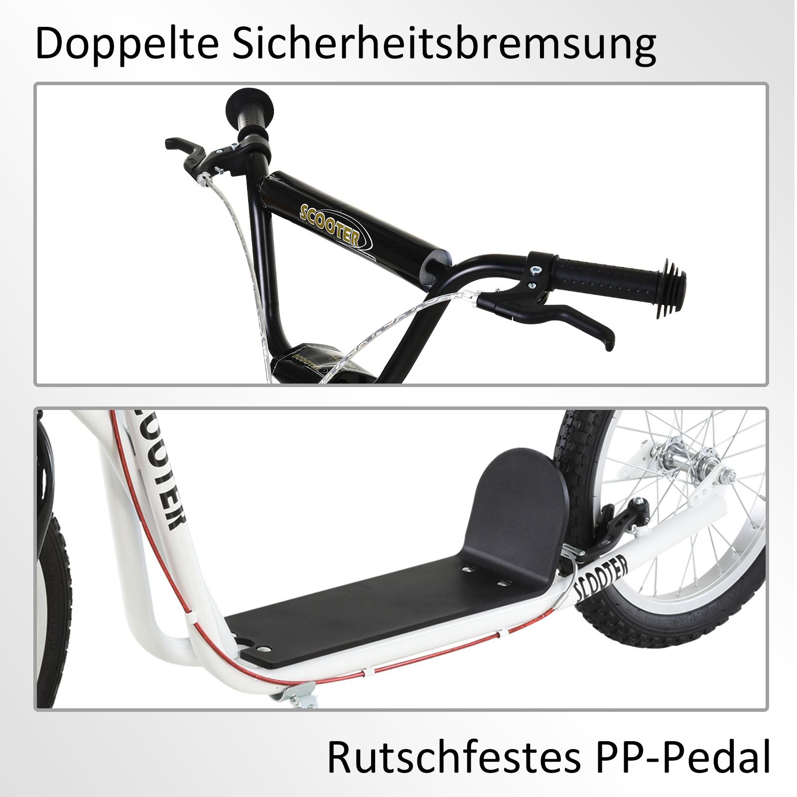 Indexbild 43 - HOMCOM-Tretroller-Kinderroller-Scooter-Cityroller-Roller-verstellbar-Blau-Gruen