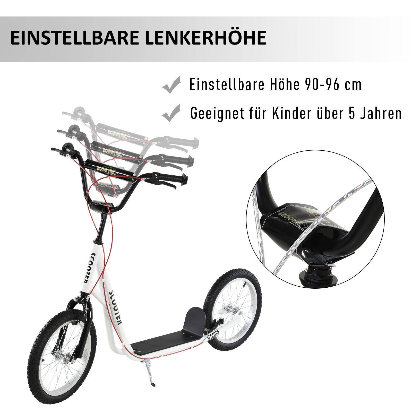 Indexbild 42 - HOMCOM-Tretroller-Kinderroller-Scooter-Cityroller-Roller-verstellbar-Blau-Gruen