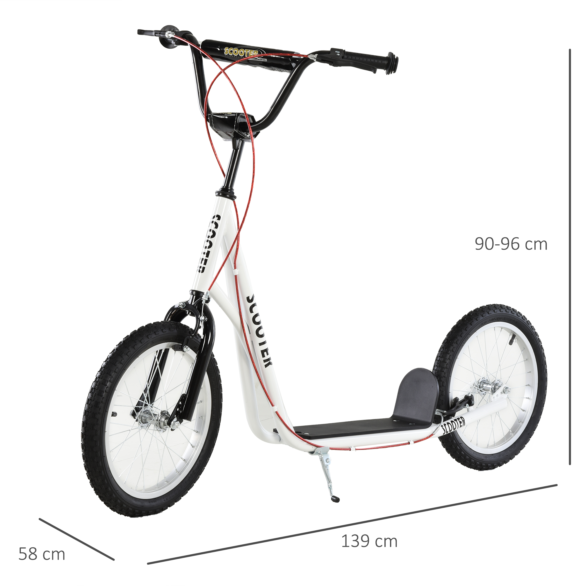 Indexbild 45 - HOMCOM-Tretroller-Kinderroller-Scooter-Cityroller-Roller-verstellbar-Blau-Gruen