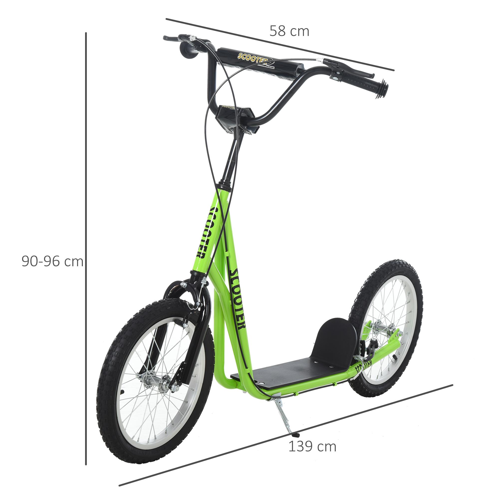 Indexbild 24 - HOMCOM-Tretroller-Kinderroller-Scooter-Cityroller-Roller-verstellbar-Blau-Gruen