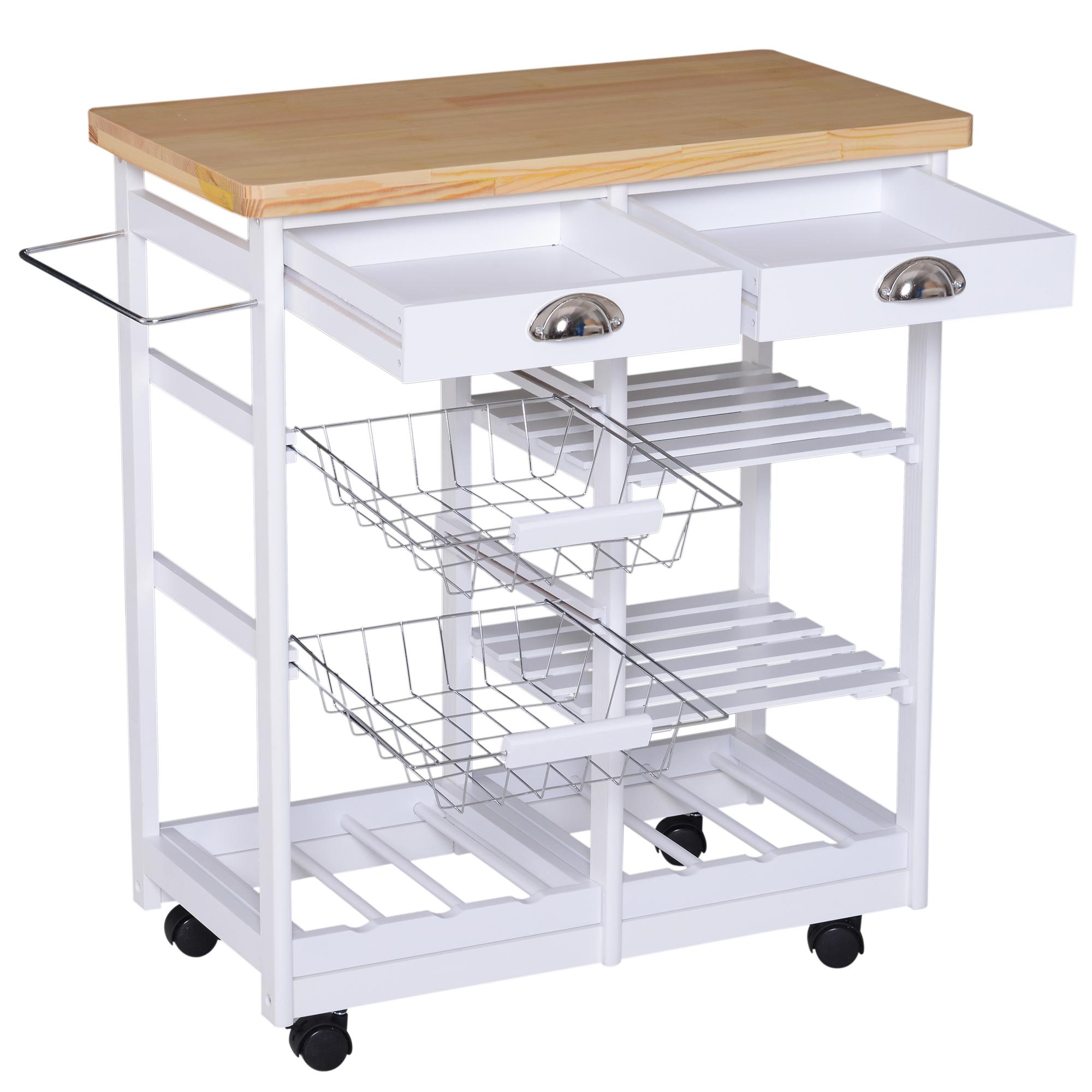 Details zu Küchenwagen Servierwagen Rollwagen Beistellwagen Küchentrolley  mit Schubladen