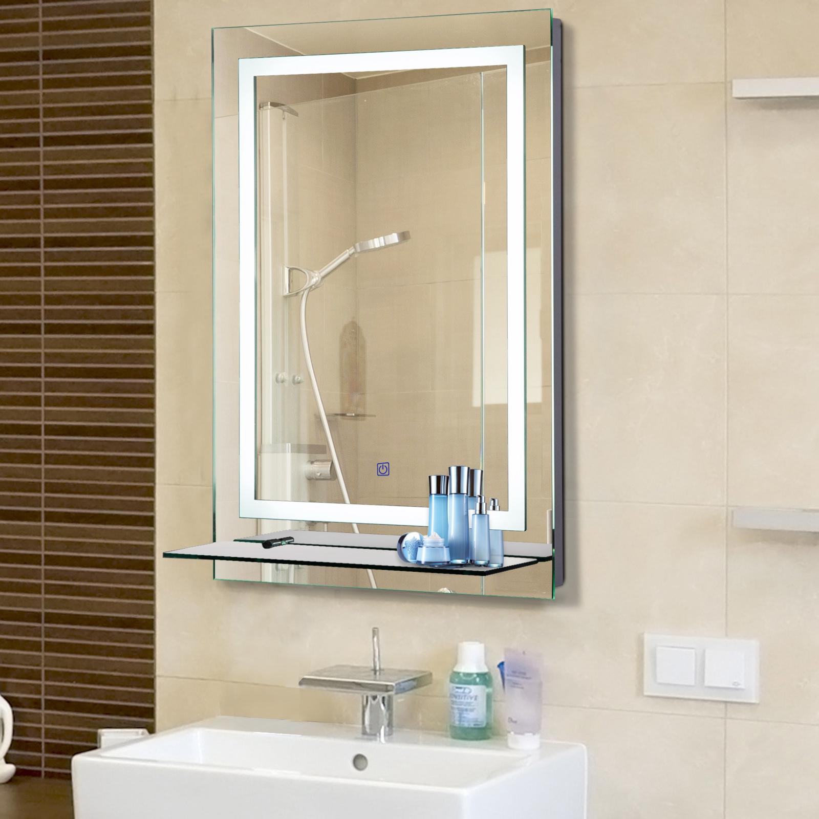 Sehr kleankin LED Badspiegel Badezimmerspiegel mit Beleuchtung Glas UT32