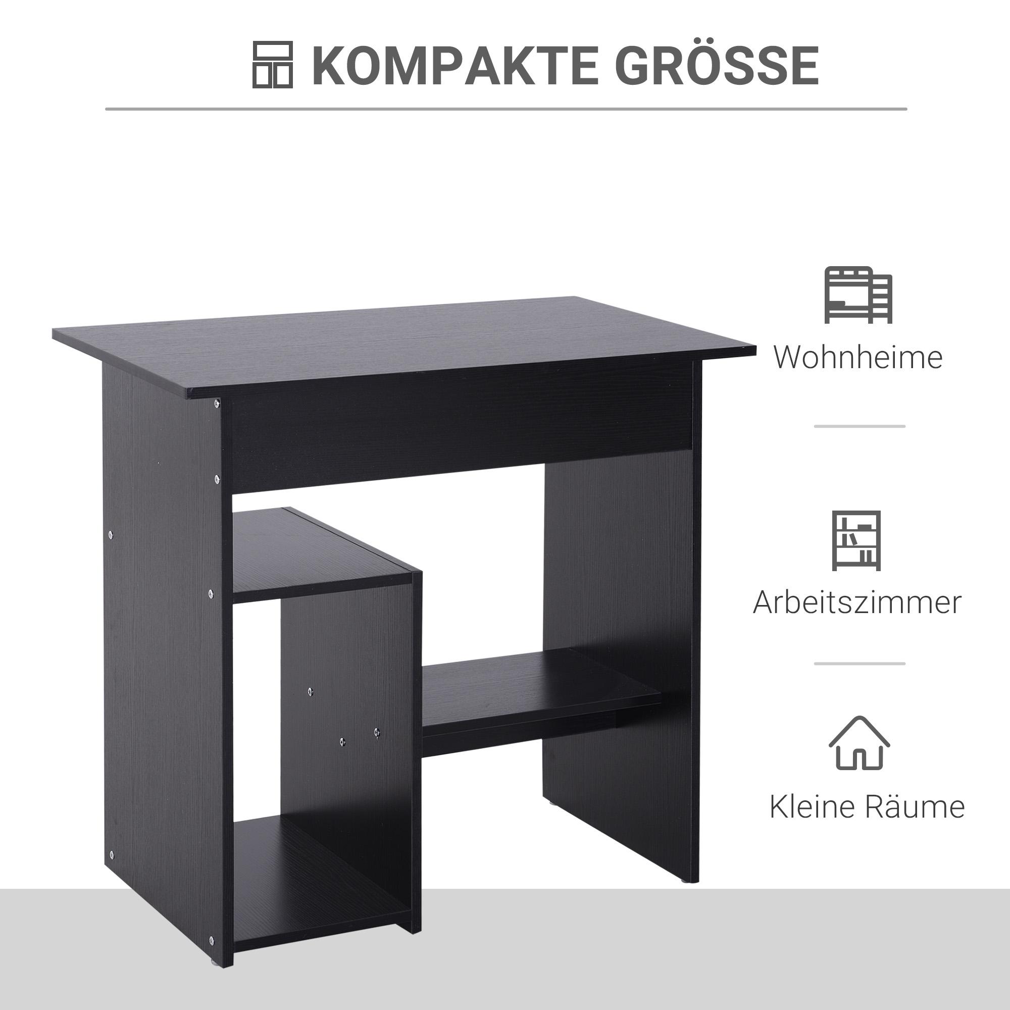 Indexbild 10 - HOMCOM Computertisch Schreibtisch Bürotisch Gamingtisch PC-Tisch Weiß/Schwarz
