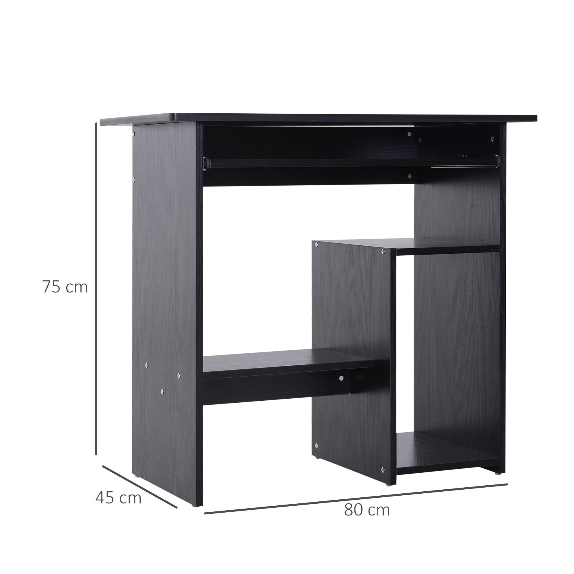 Indexbild 13 - HOMCOM Computertisch Schreibtisch Bürotisch Gamingtisch PC-Tisch Weiß/Schwarz
