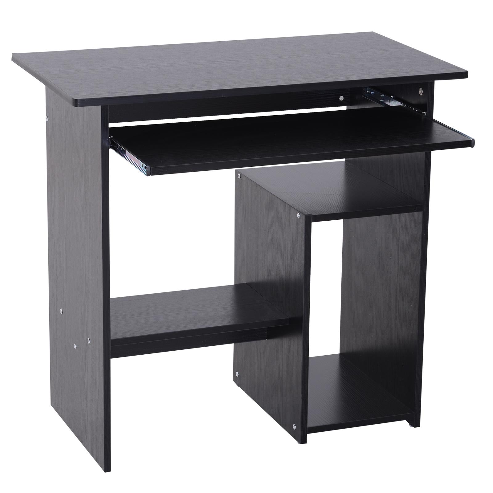 Indexbild 14 - HOMCOM Computertisch Schreibtisch Bürotisch Gamingtisch PC-Tisch Weiß/Schwarz