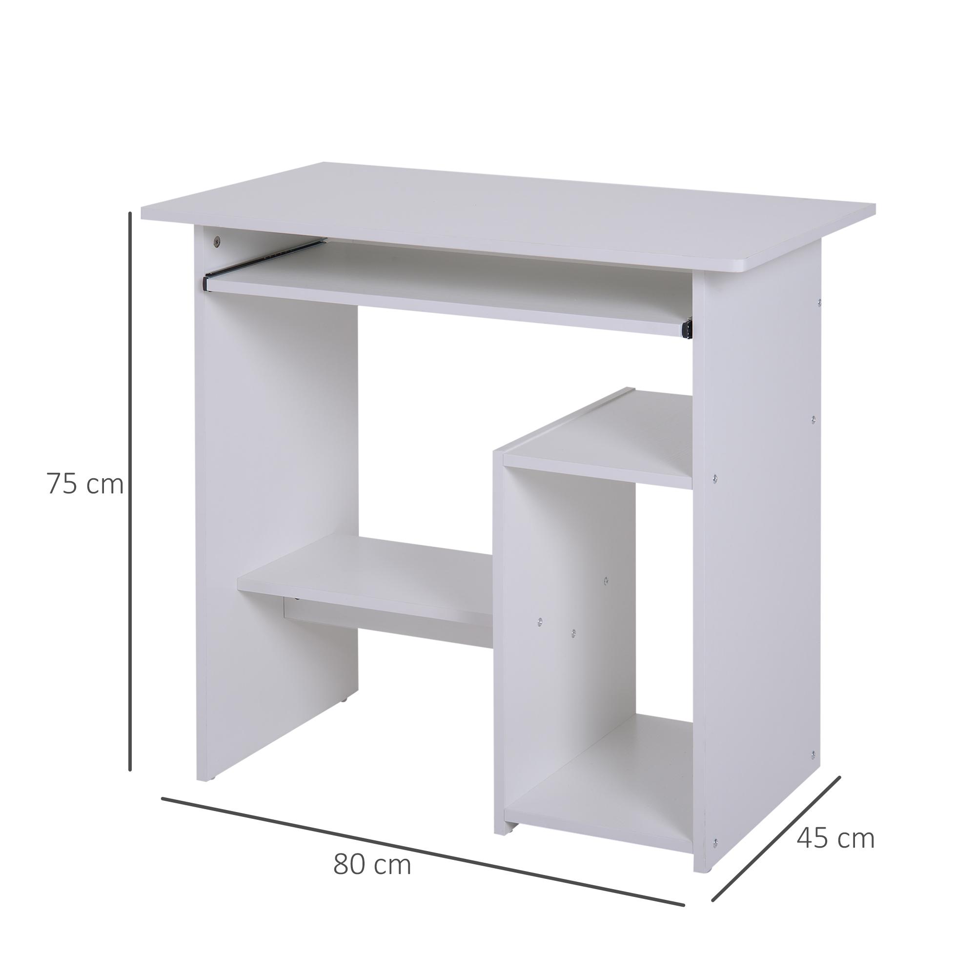 Indexbild 24 - HOMCOM Computertisch Schreibtisch Bürotisch Gamingtisch PC-Tisch Weiß/Schwarz