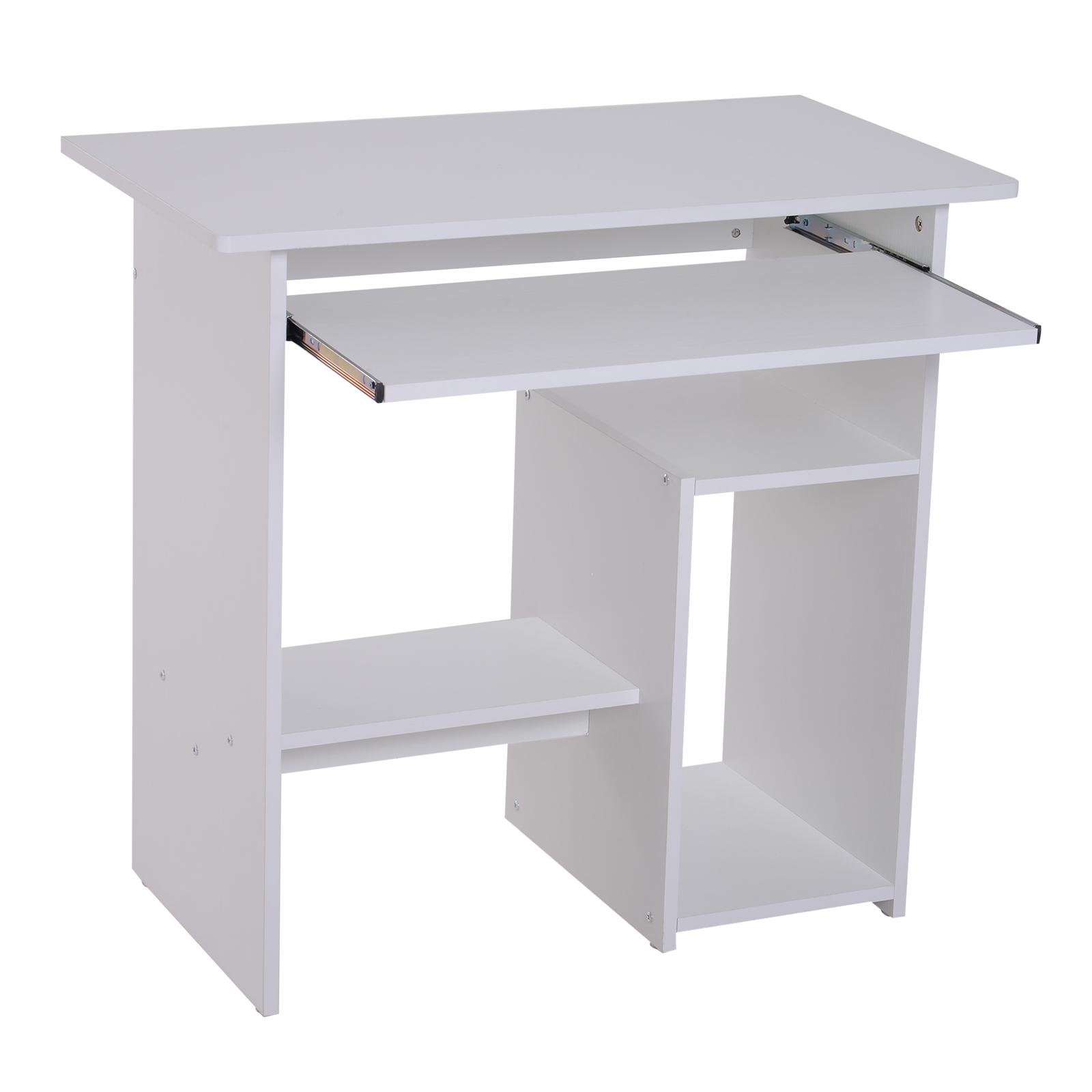 Indexbild 25 - HOMCOM Computertisch Schreibtisch Bürotisch Gamingtisch PC-Tisch Weiß/Schwarz