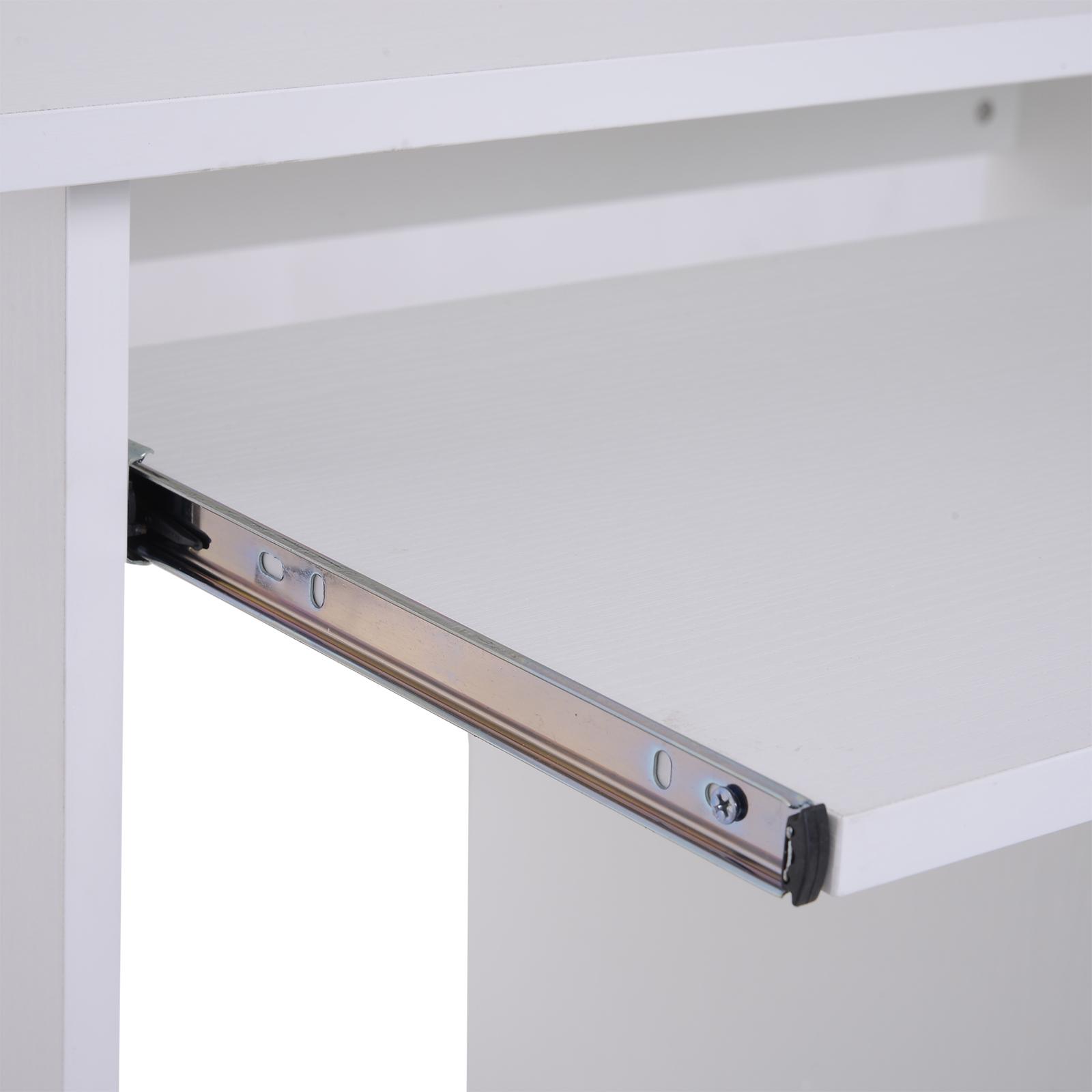Indexbild 29 - HOMCOM Computertisch Schreibtisch Bürotisch Gamingtisch PC-Tisch Weiß/Schwarz