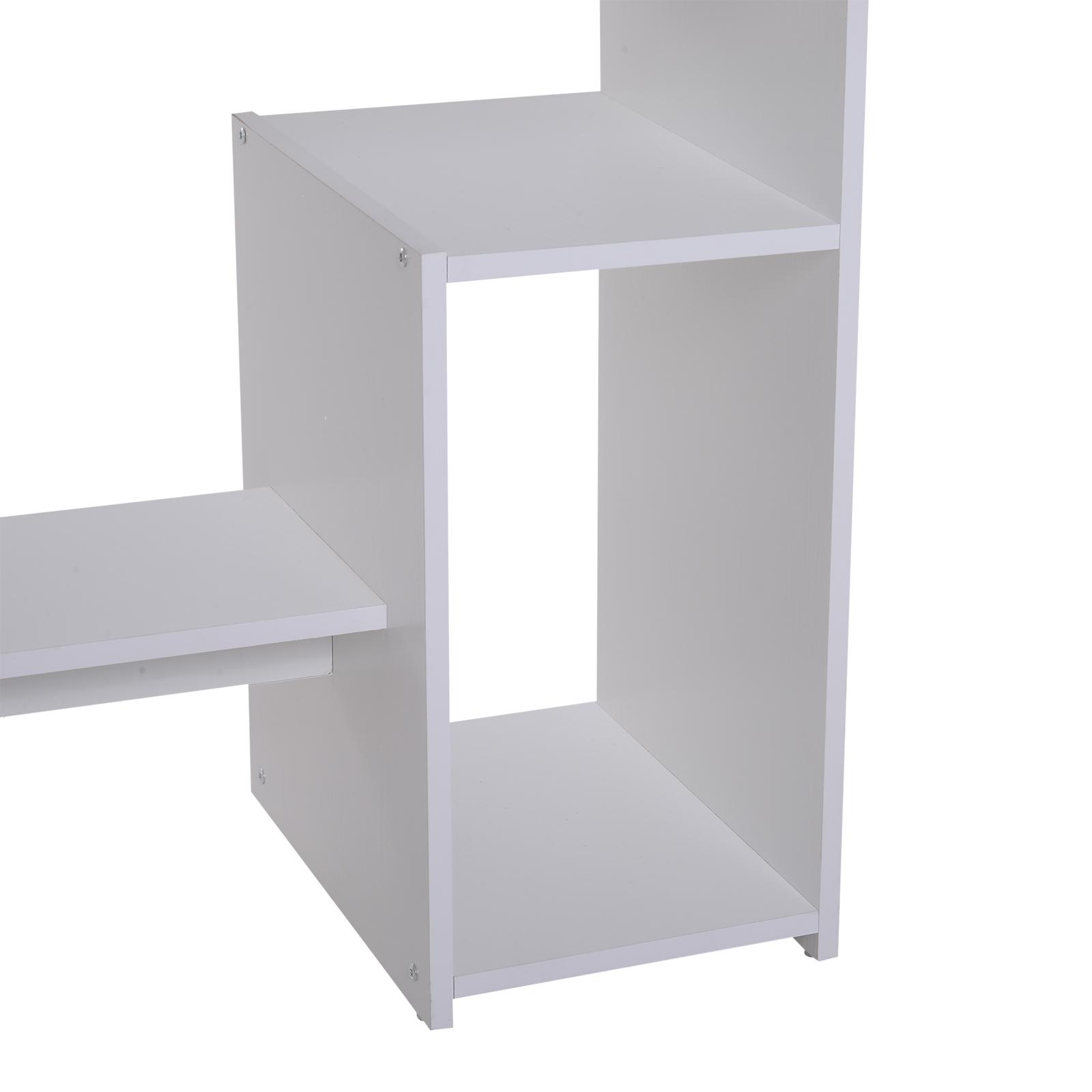 Indexbild 30 - HOMCOM Computertisch Schreibtisch Bürotisch Gamingtisch PC-Tisch Weiß/Schwarz