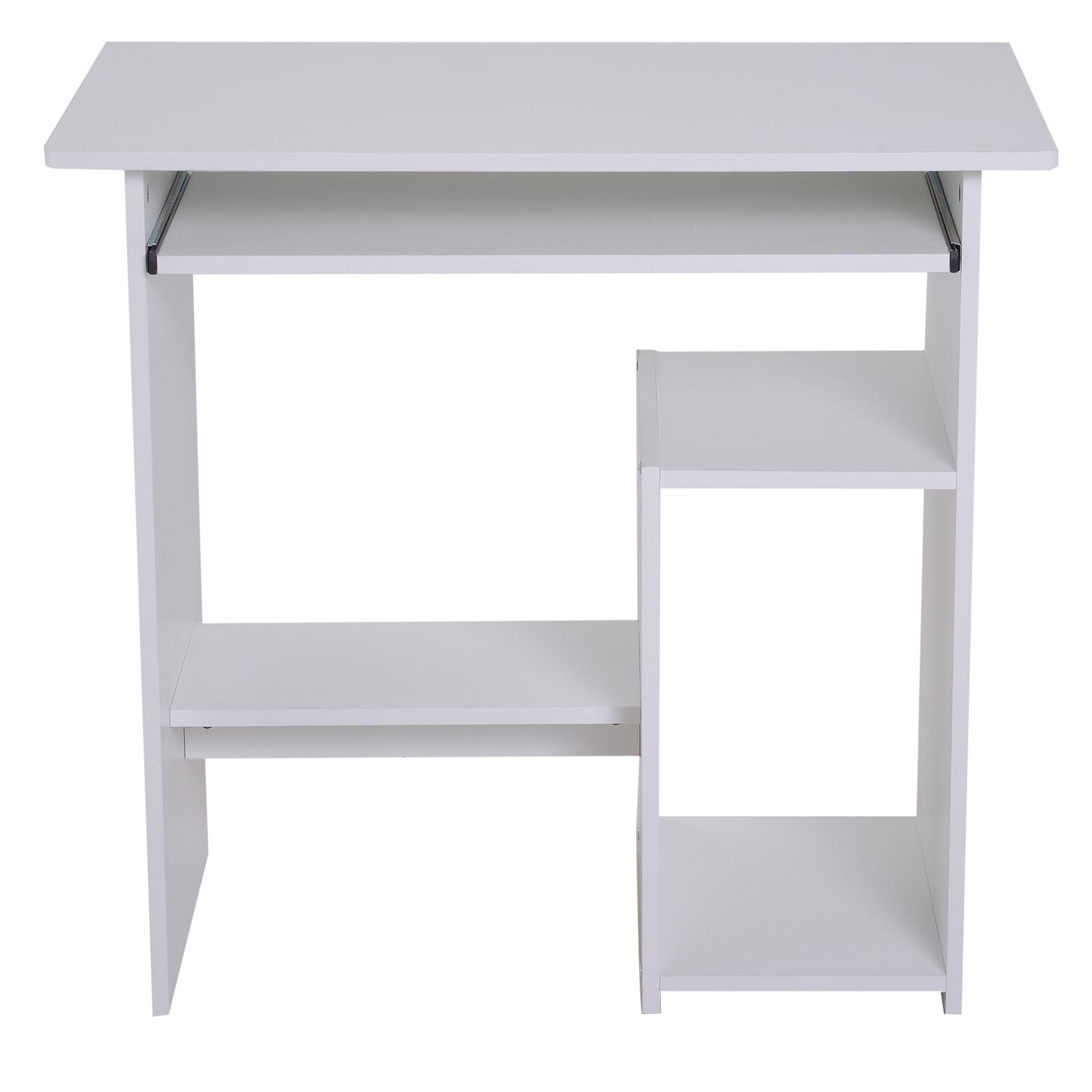 Indexbild 26 - HOMCOM Computertisch Schreibtisch Bürotisch Gamingtisch PC-Tisch Weiß/Schwarz