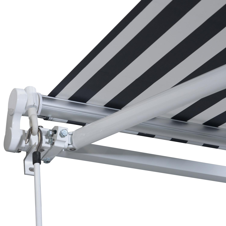 Markise-Gelenkarmmarkise-Handkurbel-Balkon-3-5x2-5m-Alu-2-Farben Indexbild 31