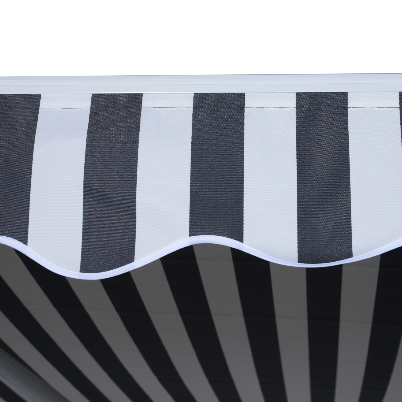 Markise-Gelenkarmmarkise-Handkurbel-Balkon-3-5x2-5m-Alu-2-Farben Indexbild 30