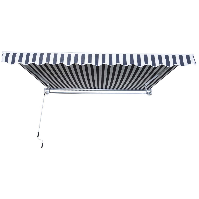Markise-Gelenkarmmarkise-Handkurbel-Balkon-3-5x2-5m-Alu-2-Farben Indexbild 24