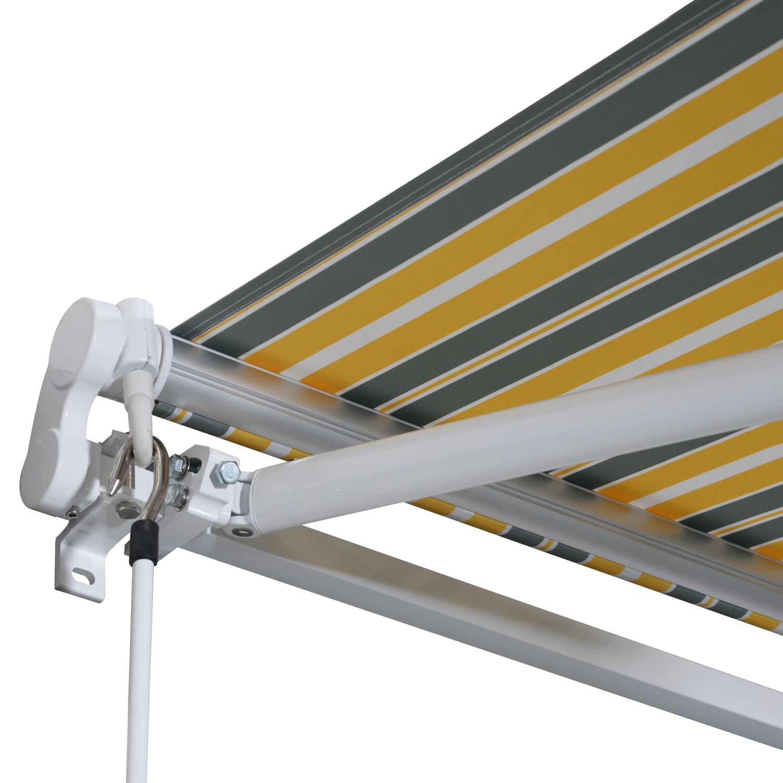 Markise-Gelenkarmmarkise-Handkurbel-Balkon-3-5x2-5m-Alu-2-Farben Indexbild 20