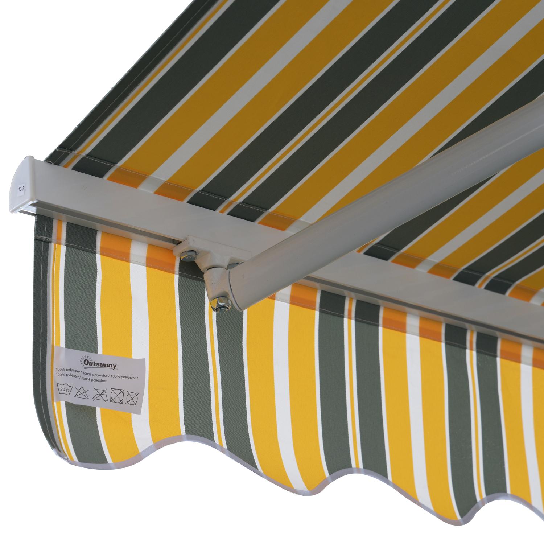 Markise-Gelenkarmmarkise-Handkurbel-Balkon-3-5x2-5m-Alu-2-Farben Indexbild 18