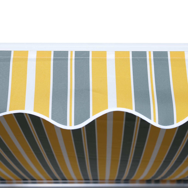Markise-Gelenkarmmarkise-Handkurbel-Balkon-3-5x2-5m-Alu-2-Farben Indexbild 21