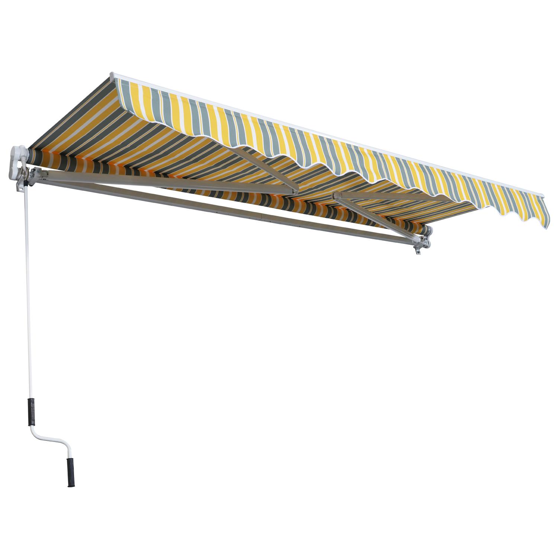 Markise-Gelenkarmmarkise-Handkurbel-Balkon-3-5x2-5m-Alu-2-Farben Indexbild 12