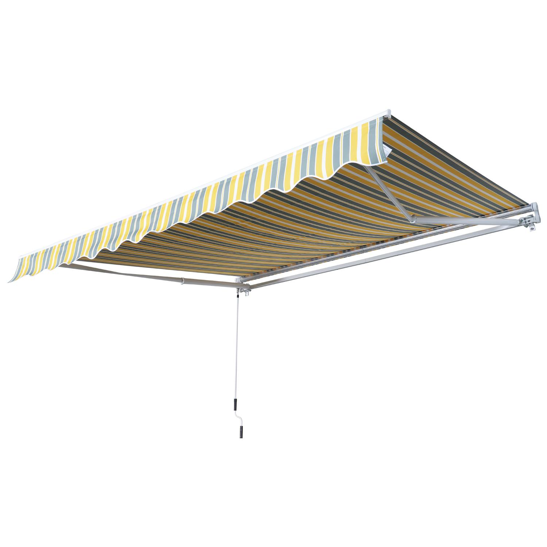 Markise-Gelenkarmmarkise-Handkurbel-Balkon-3-5x2-5m-Alu-2-Farben Indexbild 16