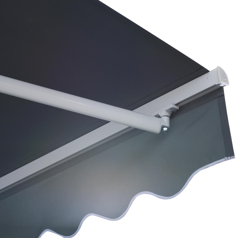 Markise-Handkurbel-Gelenkarmmarkise-Sonnenschutz-Balkon-Alu-3-95x2-5m-2-Farben Indexbild 28