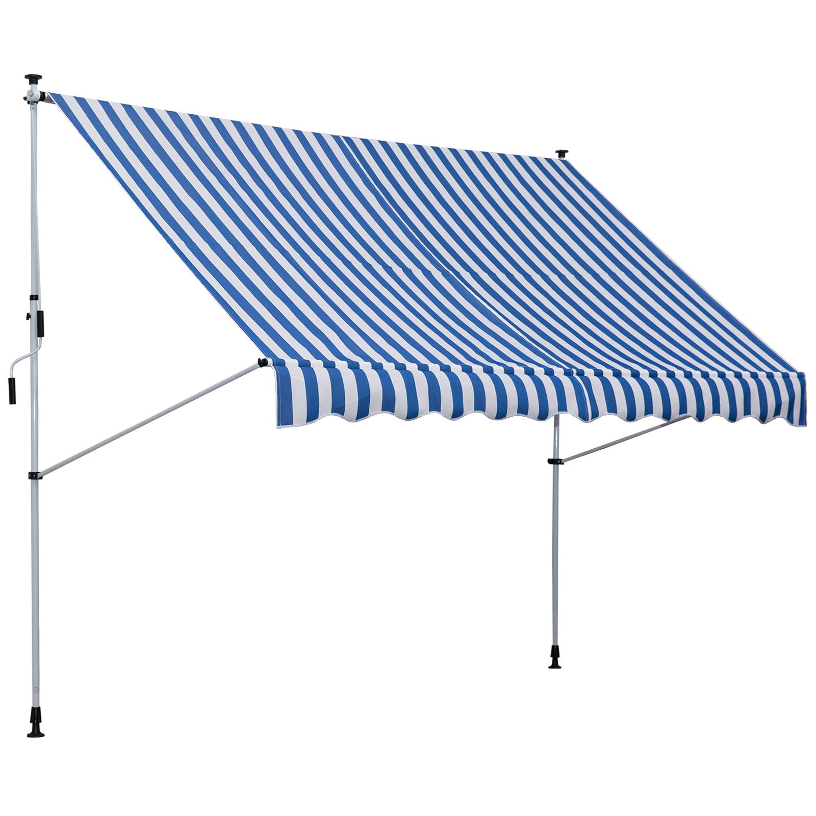 Markise Klemmmarkise Sonnenschutz sonnensegel 3x1,2m  grau//weiß Neu