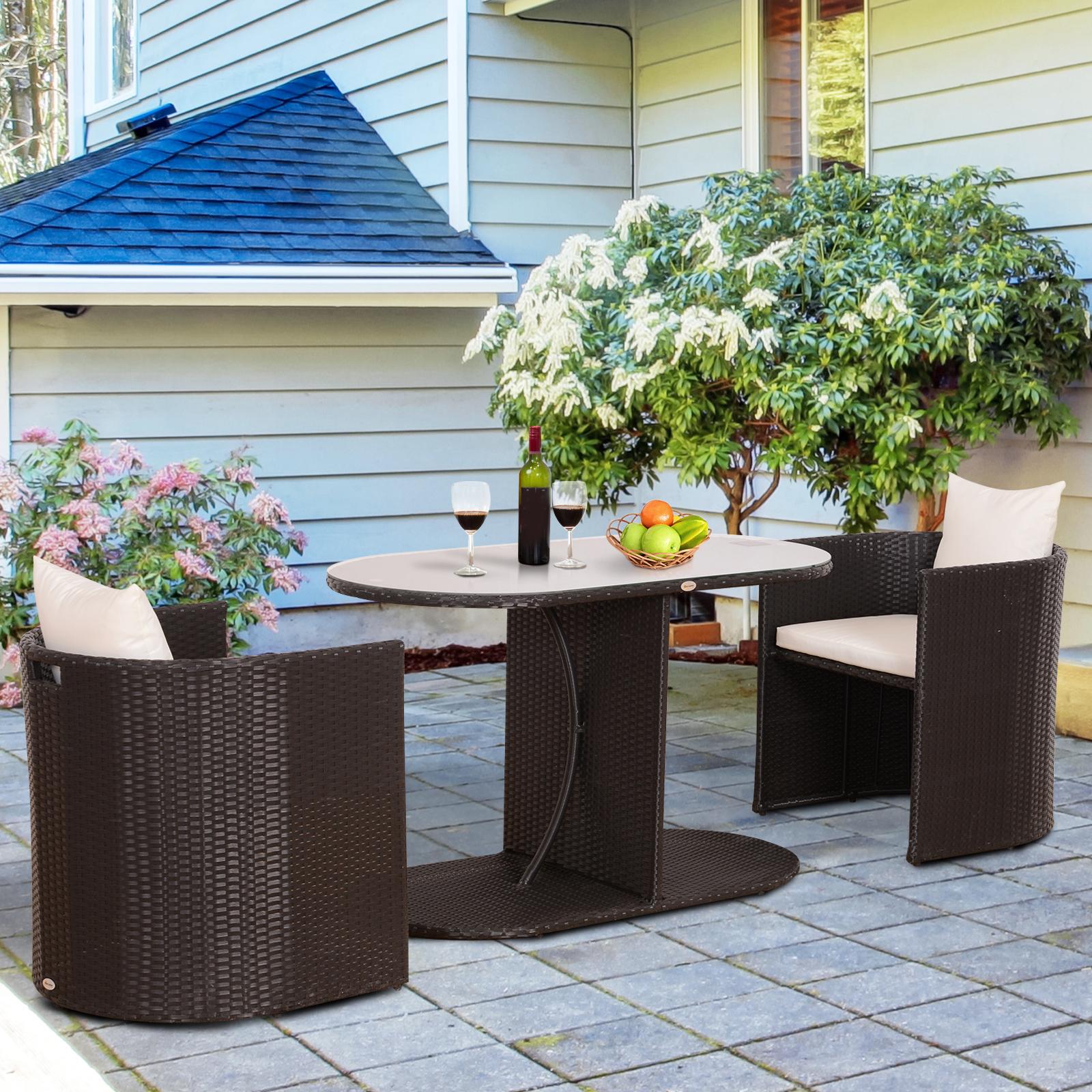 Details Zu Outsunny Gartenmobel 7 Tlg Polyrattan Gartenset Balkonmobel Sitzgruppe Garnitur