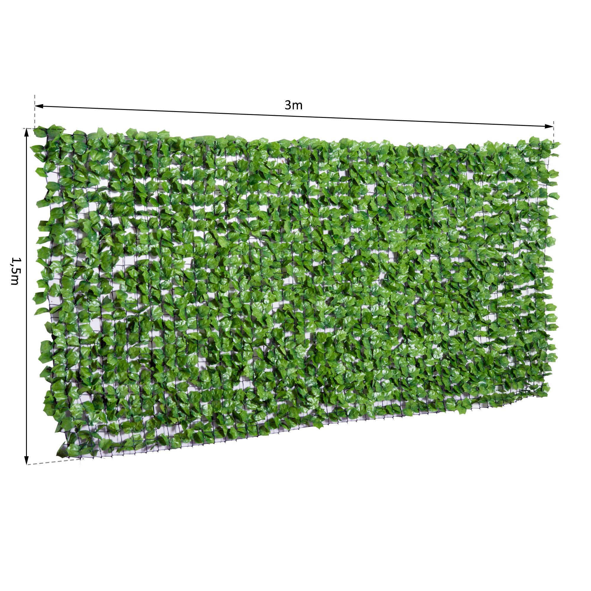 Outsunny Kunstliche Hecke Wanddekoration Sichtschutzhecke Pflanzen